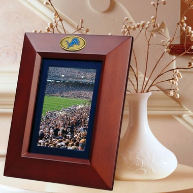 Detroit Lions BROWN Portrait Picture Frame