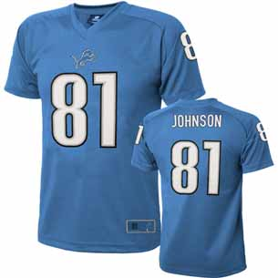 Detroit Lions Calvin Johnson Youth Performance T-shirt - Large