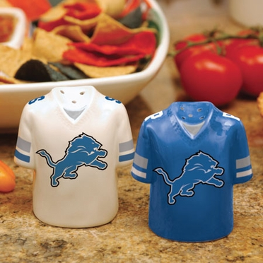 Detroit Lions Ceramic Jersey Salt and Pepper Shakers