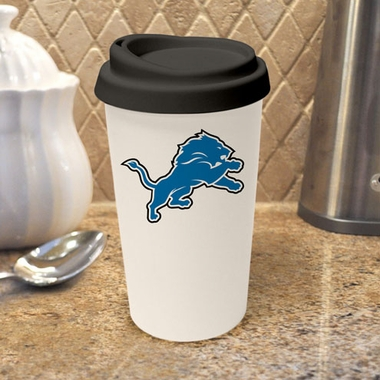 Detroit Lions Ceramic Travel Cup