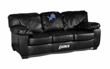 Detroit Lions Leather Classic Sofa