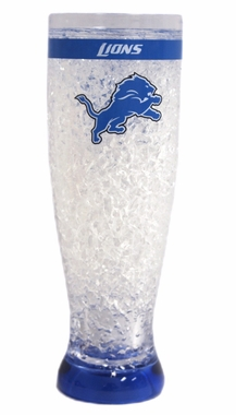 Detroit Lions Crystal Pilsner Glass