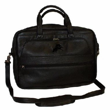 Detroit Lions Debossed Black Leather Laptop Bag