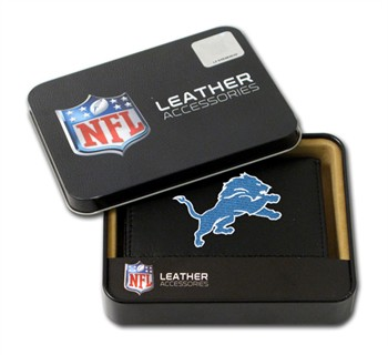 Detroit Lions Embroidered Leather Tri-Fold Wallet