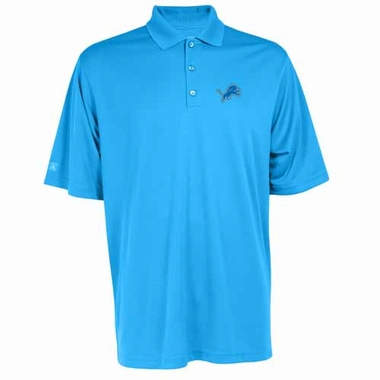 Detroit Lions Mens Exceed Polo (Team Color: Aqua)