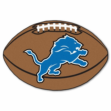 Detroit Lions Football Shaped Rug