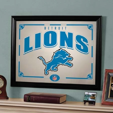 Detroit Lions Framed Mirror