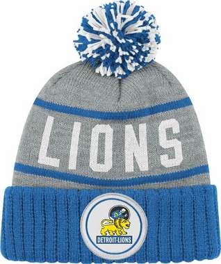 Detroit Lions High 5 Vintage Cuffed Pom Hat