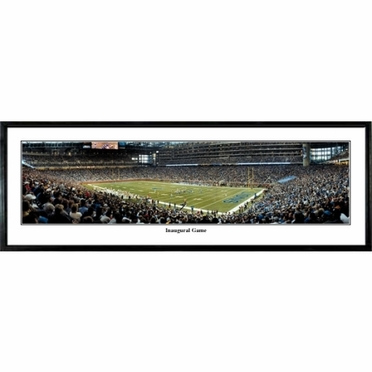 Detroit Lions Inaugural Game Framed Panoramic Print
