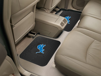 Detroit Lions SET OF 2 Heavy Duty Vinyl Rear Car Mats