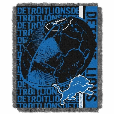 Detroit Lions Jacquard Woven Throw Blanket