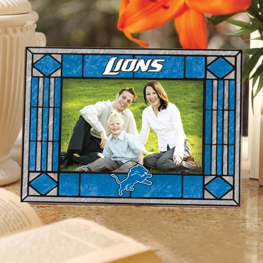 Detroit Lions Landscape Art Glass Picture Frame