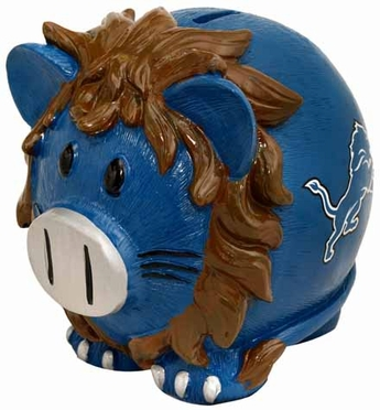 Detroit Lions Large Thematic Piggy Bank