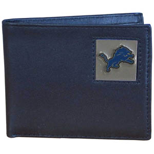 Detroit Lions Leather Bifold Wallet (F)