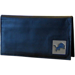 Detroit Lions Leather Checkbook Cover