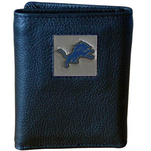 Detroit Lions Leather Trifold Wallet (F)