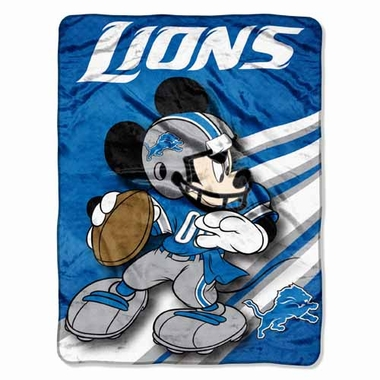 Detroit Lions Mickey Mouse Microfiber Throw