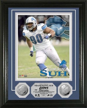 Detroit Lions Ndamukong Suh Silver Coin Photomint