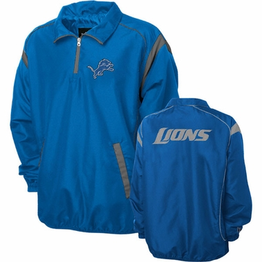 Detroit Lions NFL Red Zone 1/4 Zip Blue Jacket