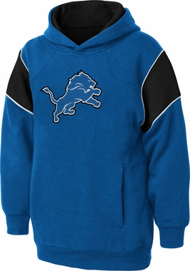 Detroit Lions NFL YOUTH Color Block Pullover Hooded Sweatshirt