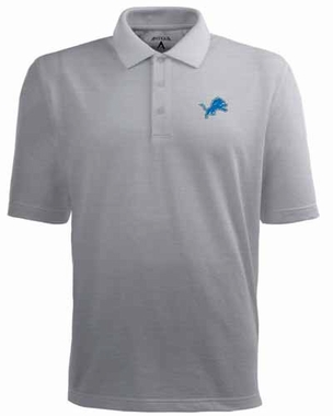 Detroit Lions Mens Pique Xtra Lite Polo Shirt (Color: Gray)
