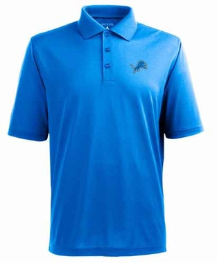 Detroit Lions Mens Pique Xtra Lite Polo Shirt (Color: Aqua)