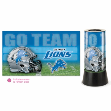 Detroit Lions Rotating Lamp
