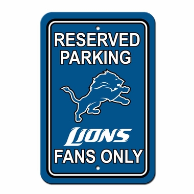 Detroit Lions Plastic Reserved Parking Sign (P)
