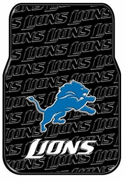 Detroit Lions Set of Rubber Floor Mats