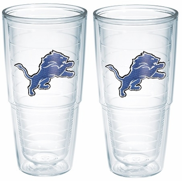 "Detroit Lions Set of TWO 24 oz. ""Big T"" Tervis Tumblers"