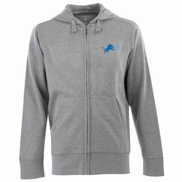 Detroit Lions Mens Signature Full Zip Hooded Sweatshirt (Color: Gray)