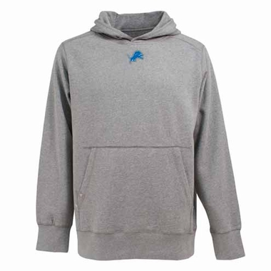 Detroit Lions Mens Signature Hooded Sweatshirt (Color: Gray)