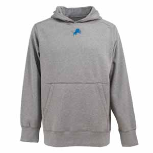Detroit Lions Mens Signature Hooded Sweatshirt (Color: Gray) - Large