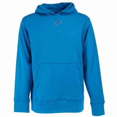 Detroit Lions Mens Signature Hooded Sweatshirt (Color: Aqua)