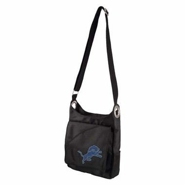 Detroit Lions Sport Noir Sheen Crossbody Bag