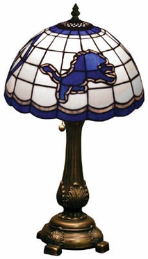 Detroit Lions Stained Glass Table Lamp