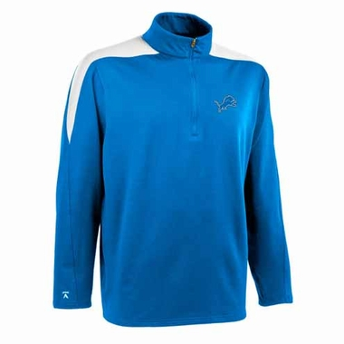Detroit Lions Mens Succeed 1/4 Zip Performance Pullover (Team Color: Aqua)