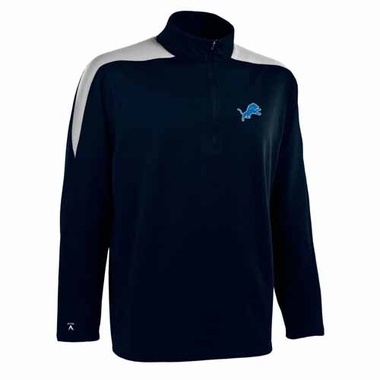Detroit Lions Mens Succeed 1/4 Zip Performance Pullover (Color: Smoke)