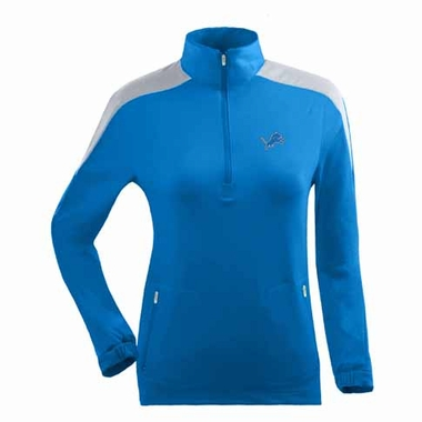 Detroit Lions Womens Succeed 1/4 Zip Performance Pullover (Team Color: Aqua)