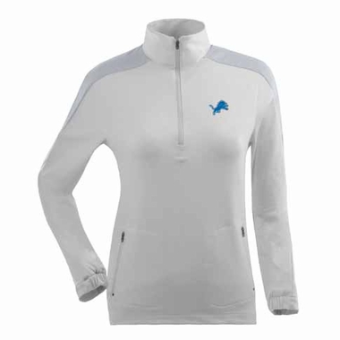 Detroit Lions Womens Succeed 1/4 Zip Performance Pullover (Color: White)