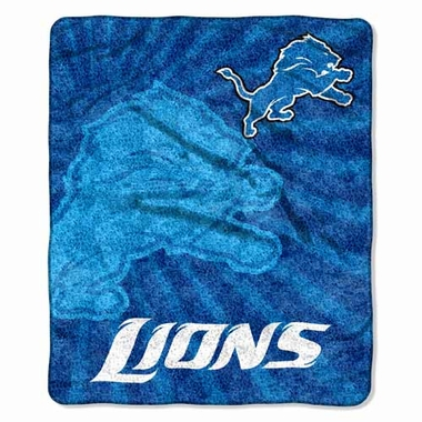 Detroit Lions Super-Soft Sherpa Blanket