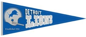 Detroit Lions Throwback Wool Pennant