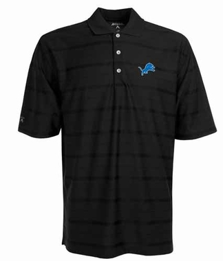 Detroit Lions Mens Tonal Polo (Team Color: Black)