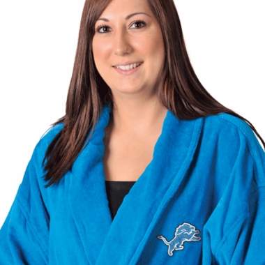 Detroit Lions UNISEX Bath Robe (Team Color)