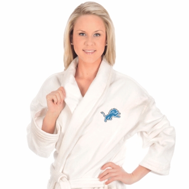 Detroit Lions UNISEX Bath Robe (White)