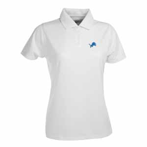 Detroit Lions Womens Exceed Polo (Color: White) - Medium