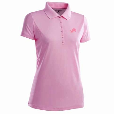 Detroit Lions Womens Pique Xtra Lite Polo Shirt (Color: Pink)