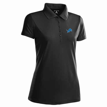 Detroit Lions Womens Pique Xtra Lite Polo Shirt (Team Color: Black)