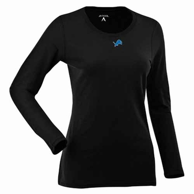 Detroit Lions Womens Relax Long Sleeve Tee (Team Color: Black)