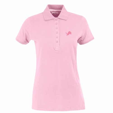 Detroit Lions Womens Spark Polo (Color: Pink)